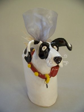 Suzanne Noll; Great Dabe Potpourri Vase..., 2011, Original Sculpture Ceramic, 4.5 x 8 inches. Artwork description: 241       I created this Great Dane potpourri vase for those who just can't get enough of this Gentle Giant. Included is a bag of Pumpkin Spice potpourri to fill your home just in time for the holiday season! Add is a metal dog tag reading