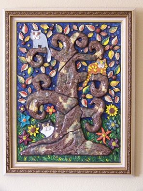 Suzanne Noll; Tree Bark And Claws, 2009, Original Mosaic, 22 x 28 inches. Artwork description: 241     This piece is called