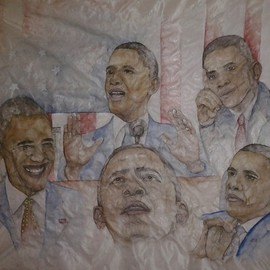 Debbi Chan, Il Palio unrolled , 2012, Original Watercolor, size_width{portrait_of_our_President-1355152365.jpg} X 21 inches