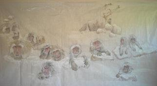 Debbi Chan, A trip to Lewiston  in Autu..., 2013, Original Watercolor, size_width{snow_monkeys_in_number-1365582389.jpg} X 48 inches