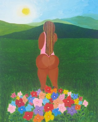 Gregory Roberson; Sweet Serenity, 2016, Original Painting Acrylic, 16 x 20 inches. Artwork description: 241 Original acrylic painting on canvas.erotic, meditation, landscape, peace, love ...