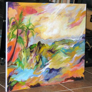 Nancy Goodenow; Tropical Splendor , 2014, Original Painting Acrylic, 30 x 24 inches. Artwork description: 241         acrylic painted on stretched canvas, 1