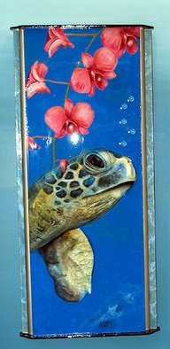 Jeff Monsein; Imaginarium   Sea Turtle, 2007, Original Mixed Media, 18 x 40 inches. Artwork description: 241  This is one of my Imaginarium series of paintings that are aquariums of the mind.   ...