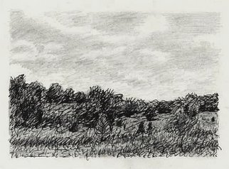 Keith Thrash; Summer Landscape, 1986, Original Drawing Other, 6 x 4 inches. Artwork description: 241  Pen and ink. ...