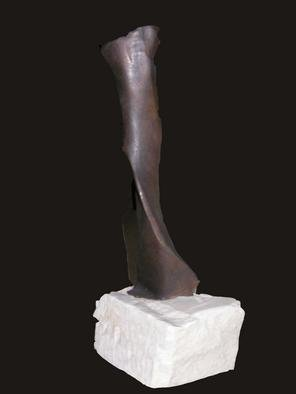 Stephanie Amos; Aphrodite, 2002, Original Sculpture Bronze, 12 x 36 inches. Artwork description: 241 An abstract figurative bronze of a female figure on a marble base. ...