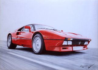 Sreejith Krishnan  Kunjappan; Ferrari 280 Gto 1985, 2015, Original Drawing Marker, 16.5 x 11.7 inches. Artwork description: 241 It is very hard to find an auto enthusiast who is not a fan of Ferrari.  I have always loved Ferrari models especially the classic ones.  This marker artwork is of a 1958 Ferrari 280 GTO.  Capturing the emotion of a red beauty in motion was an ...