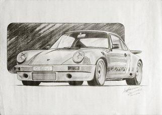 Sreejith Krishnan  Kunjappan; Legend 911, 2014, Original Drawing Pencil, 16.5 x 11.7 inches. Artwork description: 241 This is a pencil sketch of the legendary Porsche 911 1973.  Still considered to be one of the best handling Porsches out there and a favorite collector item too.  Thanks for viewing. ...