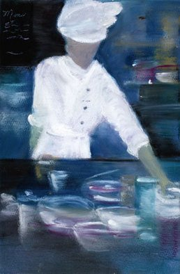 Susan Ross Donohue; Art Culinaire, 2007, Original Pastel Oil, 8 x 11 inches.