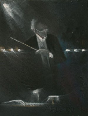 Susan Ross Donohue; The Conductor, 2007, Original Pastel Oil, 8 x 11 inches.