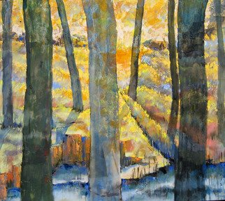 Sushanta Kumer Saha; landscape2007, 2007, Original Painting Acrylic, 40.2 x 36.2 inches. Artwork description: 241 That is view for Tribal Areas...