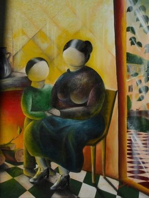 Massimiliano Stanco; Lacedonia, 2008, Original Painting Oil, 36 x 48 inches. Artwork description: 241  Childhood years spent in Lacedonia. ...