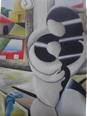Massimiliano Stanco; Motherhood, 2005, Original Painting Oil, 32 x 48 inches. Artwork description: 241  MotherhoodThis work of art is part of the artist's family collection. ...