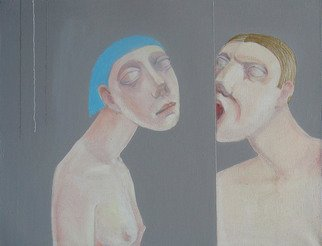 Stepan Koren; Mannequins 12, 2011, Original Painting Oil, 80 x 100 cm.