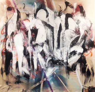 Steve Doan; last supper, 2017, Original Mixed Media, 48 x 45 inches. Artwork description: 241 AN ABSTRACTION REACT TO THE LAST SUPPER IN MILAN. THE CHRIST LIKE FEELING OF THE TABLE WITH THE DISCIPLES OF JESUS. ...