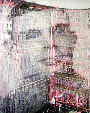 Stephen Mead; We Beg Your Pardon Sir Al..., 2015, Original Mixed Media, 16 x 20 inches. Artwork description: 241  From the series of 300 montages- in- progress for Alan Turing, came this 16 x 20 inch piece on canvas. Prints available only....