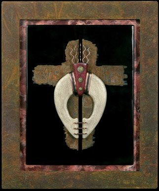 Steve Hunsicker; Division in faith, 2007, Original Sculpture Mixed, 20 x 25 inches. Artwork description: 241  Mixed media wall sculpture ...