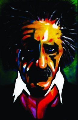 Steve Meyerholz; Einstein, 2017, Original Painting Acrylic, 24 x 36 inches. Artwork description: 241 This painting was inspired by one of the most well- known inventors of all times. You probably recognize who it is, but for those of you who donaEURtmt, itaEURtms Albert Einstein.  I painted a portrait of Einstein with a cartoon- like style with high quality ...