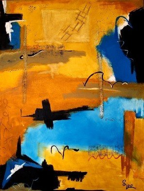 Steven Lee; Morning On The Bay, 2009, Original Painting Acrylic, 36 x 48 inches. Artwork description: 241   Abstract painting , Steven Lee , Art , modern , original , mixed media , contemporary , nam , myoho , renge , kyo ...