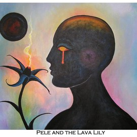 Matthew De Haven, , , Original Painting Acrylic, size_width{Pele_and_the_Lava_Lily-1250210640.jpg} X 18 inches