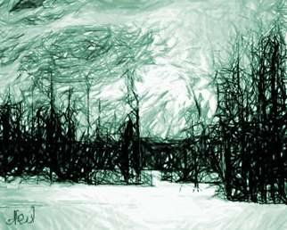 neil maizels; Eden In Snow, 2000, Original Drawing Other, 29 x 26 inches.