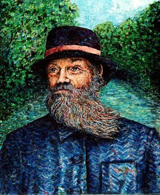Gil Garcia; Windy Beard, 2000, Original Painting Oil, 24 x 30 inches. Artwork description: 241 I consider this my attempt at French Impressionistic pointillism with complimenting colors predominantly blues and greens. ...