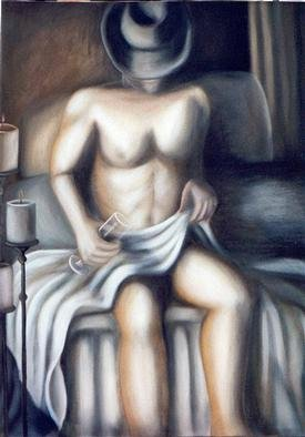 Claudia Perez; STILL WAITING, 2000, Original Painting Oil, 24 x 30 inches.