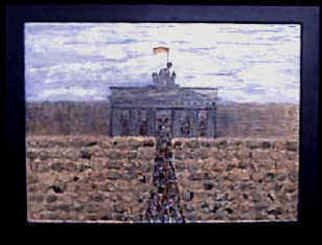 Anneliese Fritts; Brandenburg Gate, 2004, Original Mixed Media, 27 x 21 inches. Artwork description: 241  This artwork is part of the