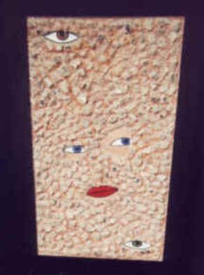 Anneliese Fritts; Suspicious, 2004, Original Mixed Media, 14 x 26.5 inches. Artwork description: 241  This artwork is part of the