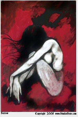Nathaniel Milljour; Sorrow, 2007, Original Other, 24 x 36 inches. Artwork description: 241 Hand Embellished Giclee Canvas-Signed by the artist....