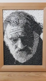 Suat Dursun; Mosaic Portrait Of Can Yucel, 2013, Original Mosaic, 60 x 80 cm. Artwork description: 241  Mossic, famous, can yucel ...