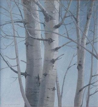 Sue Jacobsen; Aspen Trunks, 2001, Original Painting Oil, 20 x 24 inches.