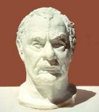 Sue Jacobsen; Jack Miller Esquire, 1984, Original Sculpture Other, 8 x 14 inches. Artwork description: 241 The character in Jack' s face made hisportrait a real challenge.  Cast plaster from original clay. ...