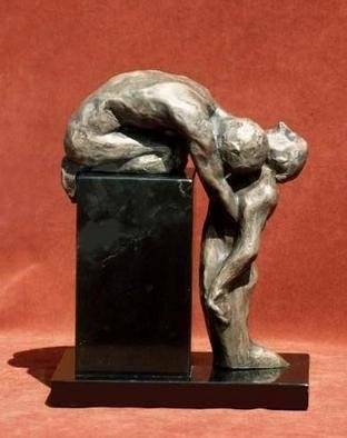 Sue Jacobsen; Mourning, 2005, Original Sculpture Bronze, 8 x 10 inches. Artwork description: 241 A small maquette for a planned memor- ial depicting the act of' letting go.'...