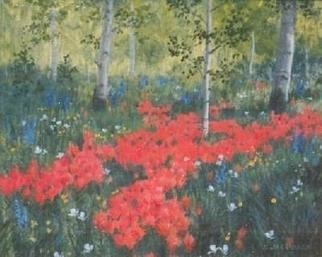 Sue Jacobsen; Wildflower Stroll, 1994, Original Painting Oil, 14 x 12 inches. Artwork description: 241 A patch of wildflowers discovered on a day- hike. ...
