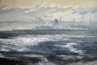 Sue Nichol; Seal Sands Chemical Works, 2006, Original Painting Acrylic, 36 x 24 inches. Artwork description: 241  Seal Sands Chemical Works from Seaton Carew. Mixed media ...