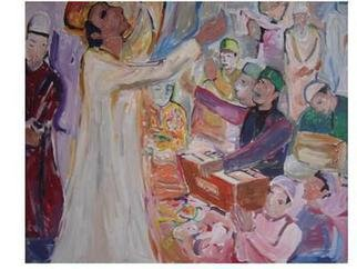 Maharaj Ajmal; Sufitrance, 2015, Original Painting Acrylic, 35 x 24 inches. Artwork description: 241   sufi culture art  ...