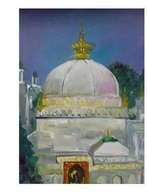 Ajmal Maharaj; The Sufi Sanctuary , 2008, Original Painting Acrylic, 1 x 1.6 feet. Artwork description: 241  expresses the sufisanctuary in image. ...