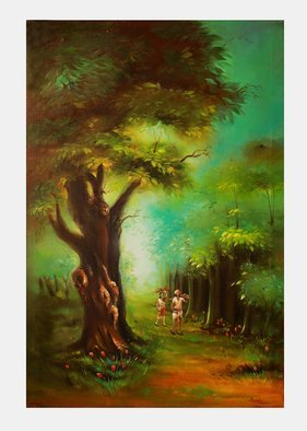 Sujata Chouksey; Forest Landscape, 2019, Original Painting Oil, 2 x 3 feet. Artwork description: 241 Forest ...