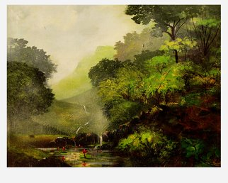 Sujata Chouksey; Landscape, 2019, Original Painting Oil, 24 x 18 inches. Artwork description: 241 Nature painting on canvas...
