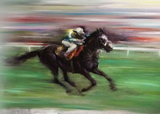 Surabhi Gulwelkar; Swift, 2018, Original Painting Oil, 36 x 24 inches. Artwork description: 241 Horse, Speed, Bold brush strokes, impressionism, Fineart...