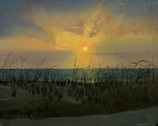 Fred Paddock; Fenwick Sunrise, 2006, Original Painting Acrylic, 30 x 24 inches. Artwork description: 241  Fenwick Sunrise is a study of early morning light affected by fog and close lying cloud configurations. ...