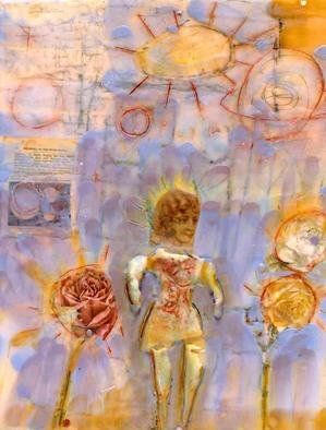 Susan Leopold; The Story Of The Universe, 2005, Original Collage, 24 x 36 inches. Artwork description: 241 Mixed media, collage and encaustic on panel. ...