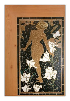 Susan Rudolf; It Is Me Lilies , 2013, Original Mosaic, 90 x 182 cm. Artwork description: 241 On show first time at Landhuis Bloemhof, Curacao 2012The many faces of love Susan Rudolf...