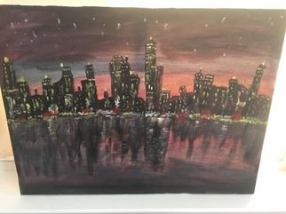 Sushree Choudhary; City Lights, 2017, Original Painting Acrylic, 20 x 16 inches. Artwork description: 241 I did this from a photo. ...