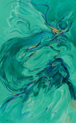Suzanne Caron, Phoenix Tamed, 2014, Original Painting Acrylic, size_width{Phoenix_Tamed-1402609015.jpg} X 48 x  inches