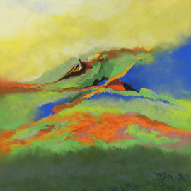 Suzanne Mcclelland, , , Original Pastel, size_width{Along_The_Prairie-1215307466.jpg} X 33 inches
