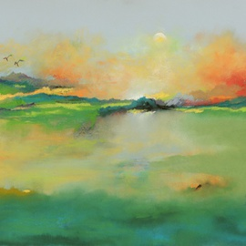 Suzanne Mcclelland, , , Original Pastel, size_width{Serenity-1202944940.jpg} X 19 inches