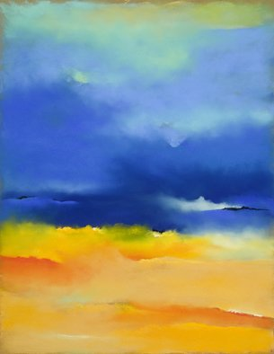 Suzanne Mcclelland; Stormy Beach, 2010, Original Pastel, 24 x 36 inches. Artwork description: 241   Its is a cloudy day at the beach. I love the soft sand and the intensity of the clouds. Prints are available for $300 USA$original abailable ...