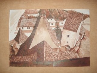 Iuliana Sava; Old Fortress Of Atel 1 Romania, 2009, Original Drawing Other, 29 x 21 cm. Artwork description: 241  Drawing ink on paper, size 29x21cm, 2009. Post i pay. ...