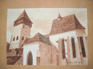 Iuliana Sava; Old Fortress Of Atel Romania, 2009, Original Drawing Other, 29 x 21 cm. Artwork description: 241  Drawing ink on paper, size 29x21cm, 2009. Post i pay. ...